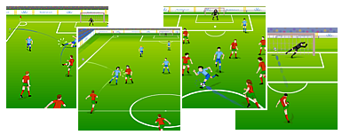 Online football match
